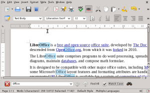 LibreOffice Find Bar